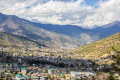 Thimpu, cityscape royalty free stock photo