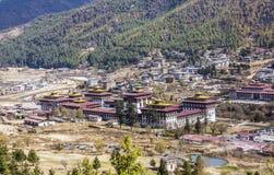 Thimpu dzong Royaltyfri Bild