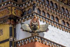 Thimpu dzong, detalj Fotografering för Bildbyråer