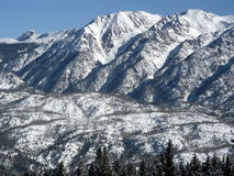 Thin Air. Mid winter snow on the high peaks of the Colorado Rockies royalty free stock image