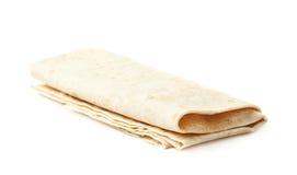 Thin armenian lavash bread isolated Stock Photo