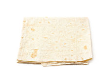 Thin armenian lavash bread isolated Royalty Free Stock Images