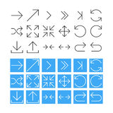 Thin Arrow Icon Set. Vector Illustration Stock Image