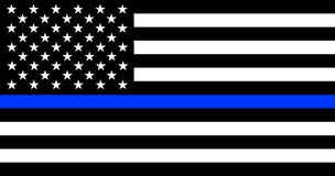 Free Thin Blue Line American Police Flag Stock Photography - 142934422