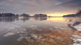 Free Thin Broken Ice On The Lake Royalty Free Stock Images - 80289169