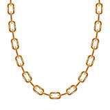 Thin chain golden metallic necklace or bracelet Stock Image