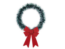 Thin Christmas wreath isolated on white background Royalty Free Stock Images