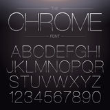 Thin Chrome Font Stock Images