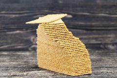 thin crispy rye royalty free stock photos