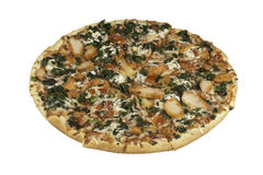 Thin crust pizza. Grab a slice of thin crust pizza Stock Photography
