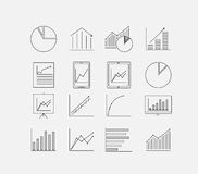 Thin Diagram icon set Royalty Free Stock Image