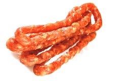 Thin dry sausage. stock image