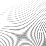 Thin dynamic curved lines monochrome geometric pattern Royalty Free Stock Image