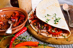 Thin flat bread Stock Images