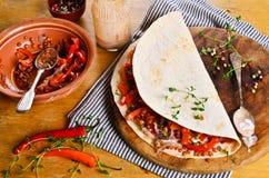 Thin flat bread Royalty Free Stock Photo