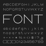 Thin Font Desgin, Alphabet and Numbers Vector Stock Photo