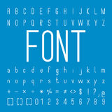 Thin Font family and Alphabet Vector Font Design Royalty Free Stock Photos