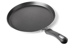 Thin frying pan Royalty Free Stock Images