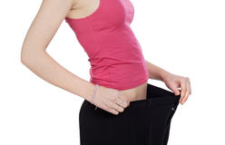 Free Thin Girl After Following A Diet Stock Image - 9195821