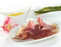 Thin Ham Slices Royalty Free Stock Photos