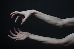 Thin hands of death Stock Images
