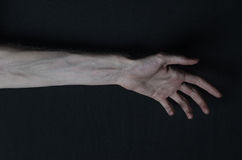 Thin hands of death Stock Image
