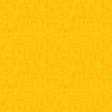 Thin Holiday Line Oktoberfest Yellow Seamless Pattern Royalty Free Stock Images