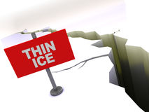 Thin ice Royalty Free Stock Photo