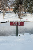 Thin ice danger Royalty Free Stock Image