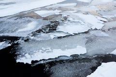 Thin ice at lake Royalty Free Stock Images