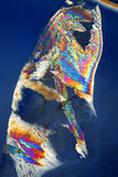 Thin ice in polarized light Stock Images