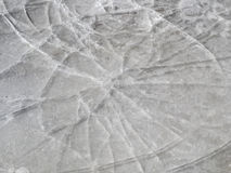 Thin ice. With radial cracks Royalty Free Stock Images