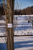 Thin ice sign Royalty Free Stock Photos