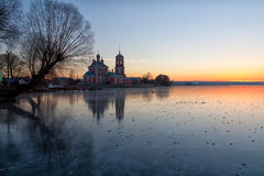 On thin ice. To photograph this beauty the photographer came far on thin ice Stock Images