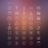 Thin Icon Set 1 Royalty Free Stock Image