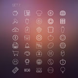 Thin Icon Set 7 Royalty Free Stock Photography