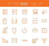 Thin Icons Royalty Free Stock Photography
