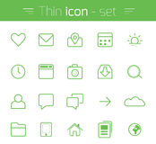 Thin Icons Royalty Free Stock Images