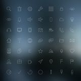 Thin icons Royalty Free Stock Image