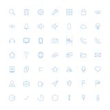 Thin icons. Vector set of modern simple thin icons. Design elements for mobile and web applications Royalty Free Stock Images