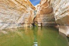Thin jet waterfall Stock Photo