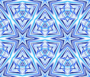 Thin Kaleidoscope Star Pattern Blue Royalty Free Stock Photo