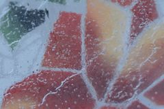 Layer of ice on mosaic pattern. Stock Photography