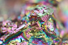 Thin layer of the titan on a quartz surface Macro Royalty Free Stock Photography
