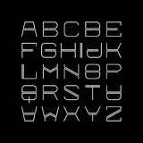 Thin line alphabet Stock Images