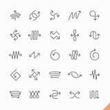 Thin line arrows icons Stock Photography