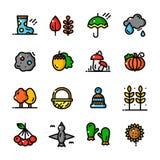 Thin line Autumn icons set, vector illustration Stock Photo