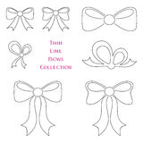 Thin line bows collection Royalty Free Stock Image