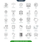 Thin Line Business 01. Thin Line Icons Set Of Finance And Business. Web Elements Collection Stock Image