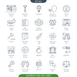 Thin Line Business 04. Thin Line Icons Set Of Finance And Business. Web Elements Collection Royalty Free Illustration